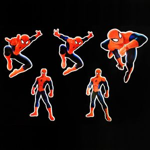 Spiderman Theme Cutouts/Stickers Decoration - Set of 5 - 1FT Height