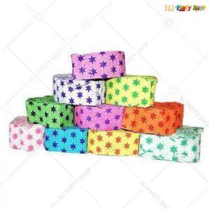 Star Dot Ribbon Crepe Paper Streamer Roll -Pack of 10
