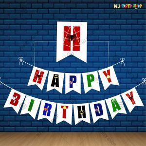 Super Heroes Happy Birthday Banner - Model 1001