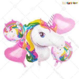 Unicorn Foil Balloons - Set of 5