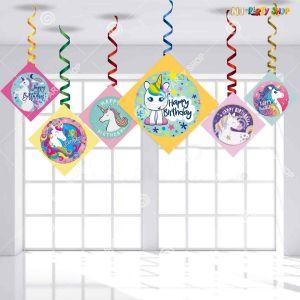 Unicorn Swirls Decoration - Model Y1