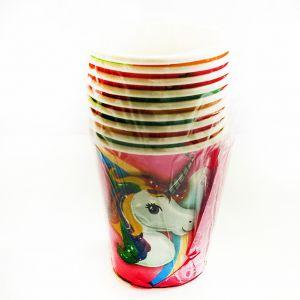Unicorn Theme Paper Cups - Set of 10