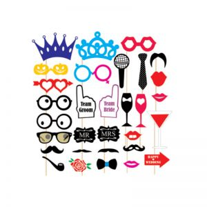 Wedding Theme Photo Booth Party Props