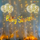 017M - Baby Shower Decoration Combo Kit With Lights - Set of 17