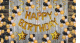 02G - Black & Golden Birthday Decoration Combo - Set of 100 Pcs