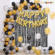 013M - Black & Golden Birthday Decoration Combo Kit - Set of 60