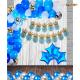07M - Blue & Silver Birthday Decoration Combo Kit - Set of 61