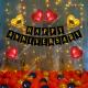 019M - Golden & Black Happy Anniversary Decoration Combo Kit - Set of 53