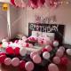 03M - Pink & Silver Birthday Decoration Combo Kit - Set of 43