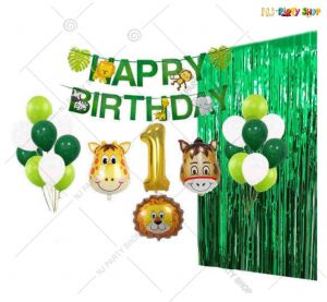 011T -Jungle Animal Theme Birthday Decoration Combo