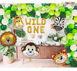 013T -Jungle Animal Theme Birthday Decoration Combo
