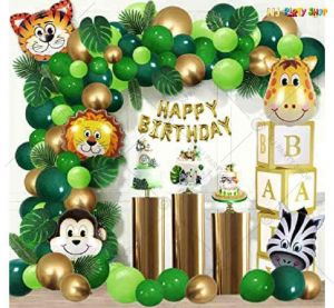 015T -Jungle Animal Theme Birthday Decoration Combo