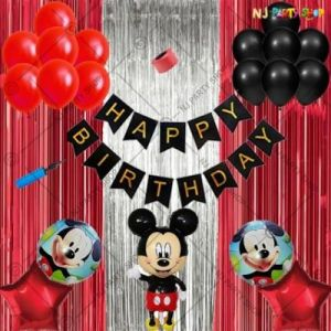 01A - Mickey Mouse Theme Birthday Decoration Combo - Set Of 43