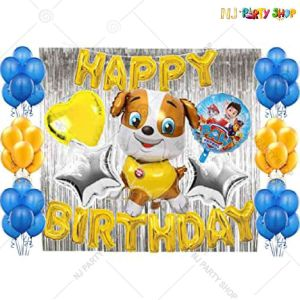 01T - Paw Patrol Theme Birthday Decoration Combo - Set of 56