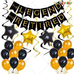 02A - Happy Retirement Decoration Combo - Set of 46