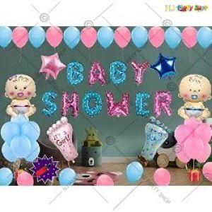 03J - Baby Shower Decoration Combo - Pink & Blue - Set Of 37