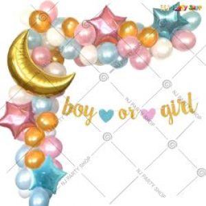 05J - Baby Shower Decoration Combo - Pink & Blue - Set Of 54