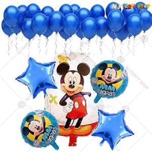 07U -Mickey Mouse Theme Birthday Decoration Combo- Set of 25
