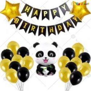 08H - Panda Theme Happy Birthday Decoration Combo - Set Of 41