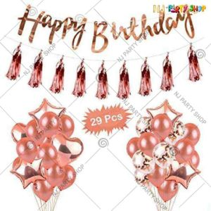 010K - Birthday Party Decoration Combo - Set of