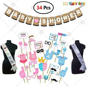 010X - Baby Shower Decoration Combo - Set of 44