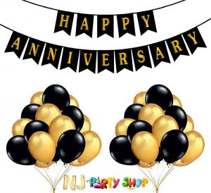 12A Happy Anniversary Decoration Combo - Set of 51