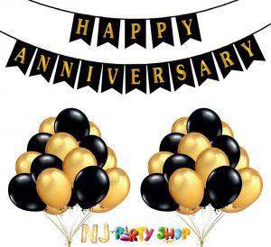 12A Happy Anniversary Decoration Combo - Set of 51