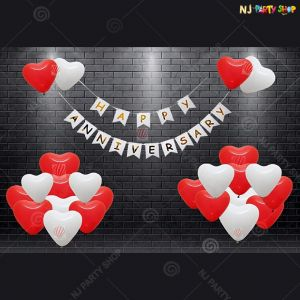 13A - Happy Marriage Anniversary Decoration Combo