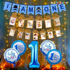 014S - Birthday Party Decoration Combo - Blue - Set of 13