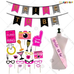 14A - Bride To Be Decoration Combo - Bachelorette Party Decorations