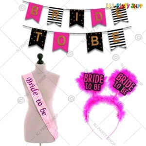 015X - Bride To Be Combo - Bachelorette Party Decorations  - Set of