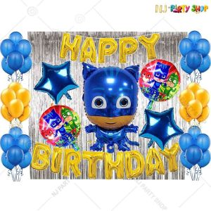 016T -PJ Mask Theme Birthday Decoration Combo - Set of 50