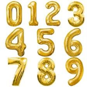 Balloons Number Foil - Gold Color -17 Inches Size
