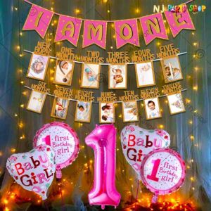 017S - Birthday Party Decoration Combo - Pink - Set of 13