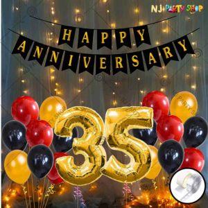 01X - Anniversary Decoration Combo - Set of 51