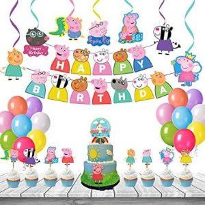 3C - Peppa Pig Theme Birthday Decoration Combo - Set of 50
