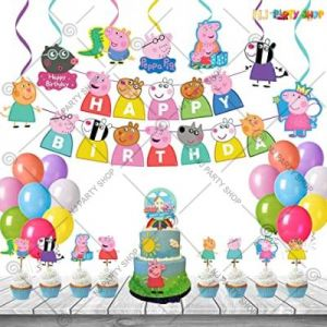 3C - Peppa Pig Theme Birthday Decoration Combo - Set of 44