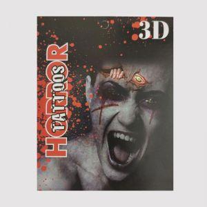 3D Horror Tattoo - Halloween Makeup
