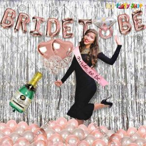 04X - Bride To Be Combo - Bachelorette Party Decorations  - Set of