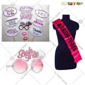 06X - Bride To Be Combo - Bachelorette Party Decorations  - Set of