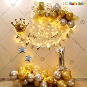 019Z - Golden Birthday Decoration Combo - Set of 54