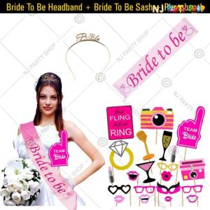 07X - Bride To Be Combo - Bachelorette Party Decorations  - Set of