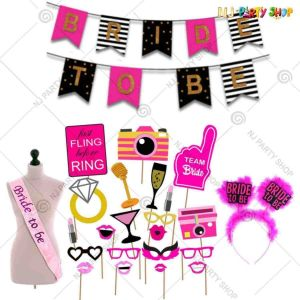 09X - Bride To Be Combo - Bachelorette Party Decorations  - Set of