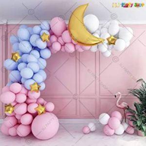 A1 - Balloon Arch Decoration Garland Kit - Blue & Pink - Set Of 81