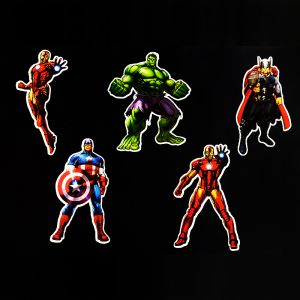 Avengers Theme Cutouts/Stickers Decoration - Set of 5 - 1FT Height