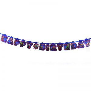 Avengers Theme Happy Birthday Banner