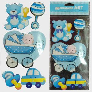 Baby Boy 3D Stickers - Baby Shower & Baby Welcome Decoration