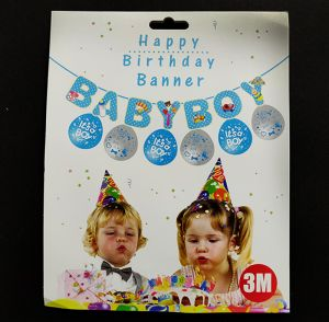 Baby Boy Banner with Balloons