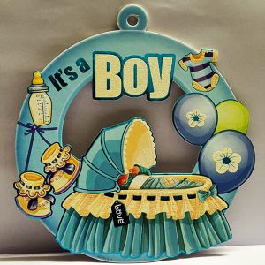 Baby Boy Sunboard Hanging Decoration - Model 1002