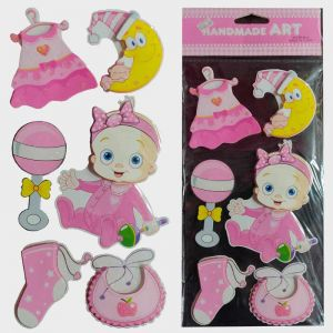 Baby Girl 3D Stickers - Baby Shower & Baby Welcome Decoration